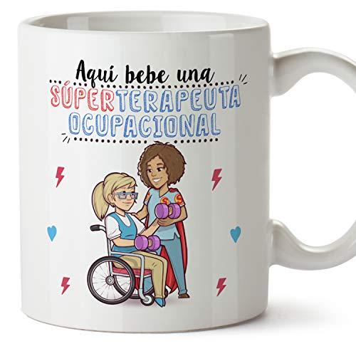 MUGFFINS Taza Terapeuta Ocupacional Mujer (Superhéroes() - Regalos Originales y Divertidos de Terapia Ocupacional 🔥
