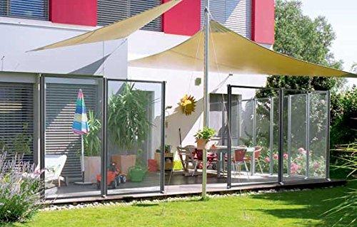 Ultra Jet Windschutz WindFix Glasabtrennung Windabweiser Gartenzaun Windfang Sichtschutz Begrenzung (617,40 cm)