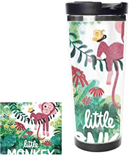 Little Monkey Stainless Steel Thermos Water Bottle Vacuum Insulated Cup Leak Proof Double Vacuum Bottle, Thermal Mug,14oz,400ML