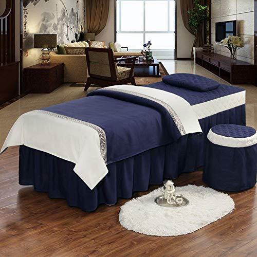 Juegos de sábanas para camilla de masaje, 4 piezas de funda de...