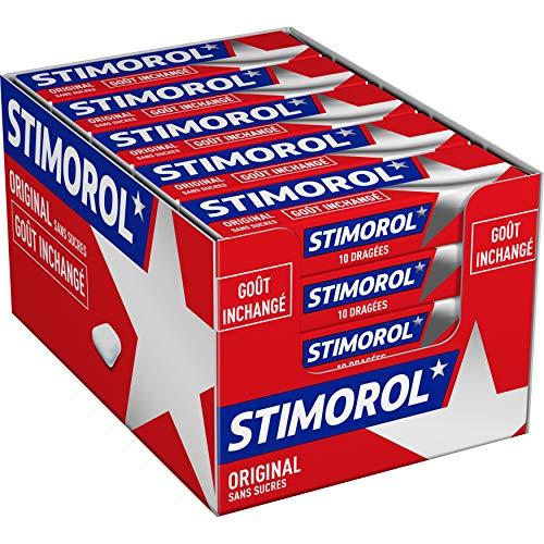 Stimorol Original - Chewing Gum Sans Sucres avec Édulcorants - Parfum Menthe/Réglisse - Lot de 2 Packs de 25 paquets de 10 tablettes (14 g)
