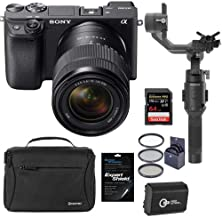 $1628 » Sony Alpha a6400 Mirrorless Digital Camera with 18-135mm f/3.5-5.6 OSS Lens - Bundle with DJI Ronin-SC Gimbal Stabilizer, Shoulder Bag, 64GB SDXC Card, Spare Battery, Screen Protector, Filter Kit