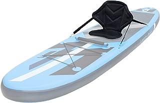 ECD Germany Asiento de Kayak Sup Tabla Stand UP 62 x43 cm Silla con 4 Anillos Cojín Acolchado Ajustable de Canoa Barco de Pesca Butaca de Navegación Antideslizante Respaldo Incluye Bolsillo