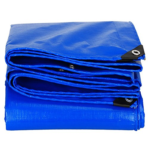 LRZLZY Blue Tarpaulin Waterproof Heavy Duty Rain Cloth Picnic Mat Plant Sun Protection Animal Cold Resistance Truck Dust-proof Shade Shed Cloth, Heat Insulation, 15 Size Options (Size : 2 X 3M)