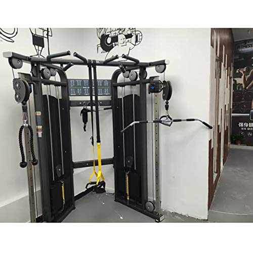 SOBS Home Gym Exercise Pulley Cable Machine Attachment, LAT Pull Down Bar Triceps Press Down Bar Handle with Revolving Hanger & Rubber Handgrips, Length 48 Inch