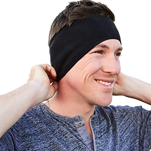 Self Pro Ear Warmer Muffs for Cold Weather - Stretchy Winter Fleece Sports Warm Headband for Men Women & Kids For Yoga Running Cycling Skiing Snowboarding Motorcycle