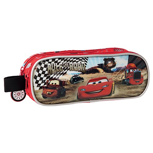 DISNEY Trousse 2 Compartiments Cars Rayon Vanity, 23 cm, Rouge