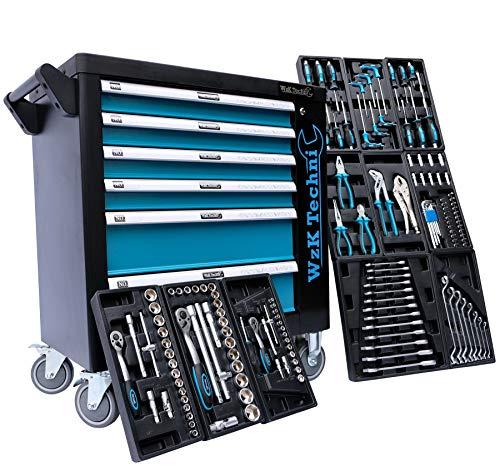 XL  Werkzeugwagen  Werkstattwagen  6 Schubladen / 4 gefüllt mit Handwerkzeug | Bit Sets, Ratschen,...