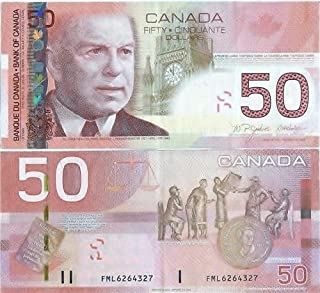 CANADIAN 50 DOLLAR BILL GLOSSY POSTER PICTURE PHOTO money currency canada ca