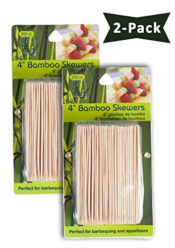 Jacent Bambusspieße für Appetizer, 10,2 cm 300 Stück pro Packung 2-Pack