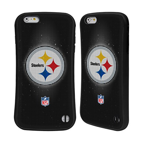 Head Case Designs Oficial NFL LED 2017/18 Pittsburgh Steelers Carcasa híbrida Compatible con Apple iPhone 6 Plus/iPhone 6s Plus