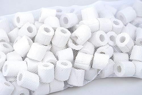 AquaOne Keramik Ringe Filtermaterial Aquarien Teich Filter geeignet biologisch Bakterien Aquarium Filtermedium Porös Süßwasser Meerwasser