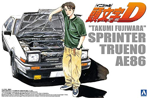 Initial D No.05 Takumi Fujiwara 86 TRUENO vol. 1 ver. (Plastic Model) (japan import)