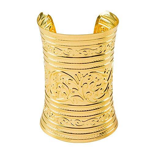 Boland 64464 - Armband Noble of The Nile, gold, Modeschmuck, Armkette, Ägypten, Rom, Cleopatra, Zigeunerin, Kostüm, Karneval, Mottoparty