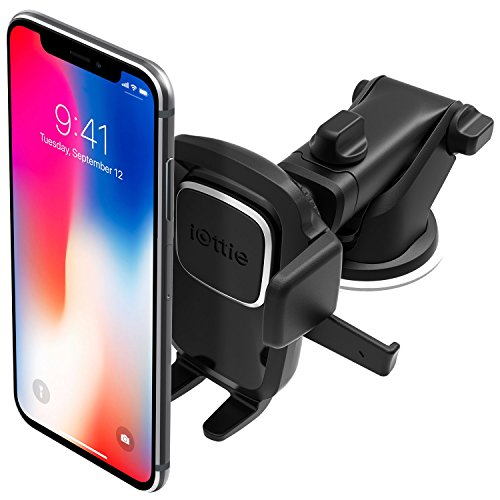iOttie Easy One Touch 4 Dash & Windshield Car Mount Phone Holder Desk Stand Pad & Mat for iPhone, Samsung, Moto, Huawei, Nokia, LG, Smartphones
