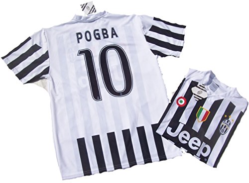 Juventus Maglia Pogba Replica Ufficiale 2015-16 Juve Bambino Anni 12 10 8 6 4 2 Home Paul 10 (4 Anni)