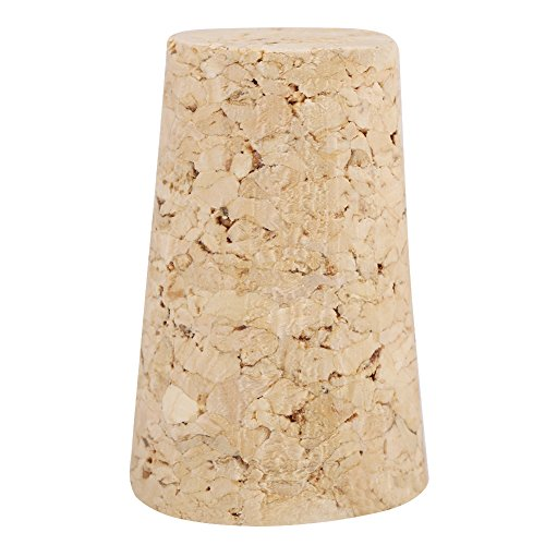 Tapones de corcho de 10 piezas, tapón de botella de madera de corchos afilados de corcho natural premium para vino y cerveza(20 * 15 * 35)