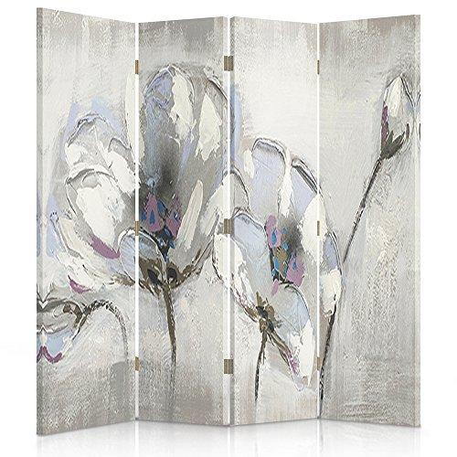 Feeby Frames. Raumteiler, Ggedruckten aufCanvas, Leinwand Wandschirme, dekorative Trennwand, Paravent beidseitig, 4 teilig (145x150 cm),...
