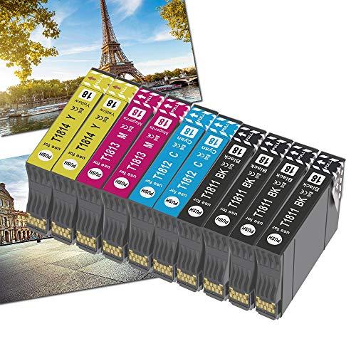 OGOUGUAN 18XL - Cartuchos de tinta para 18 XL compatibles con Expression Home XP-322 XP-215 XP-205 XP-225 XP-305 XP-325 XP-422 XP-405 XP-415 XP-425 XP-315 XP-312 XP-425 (10 unidades)