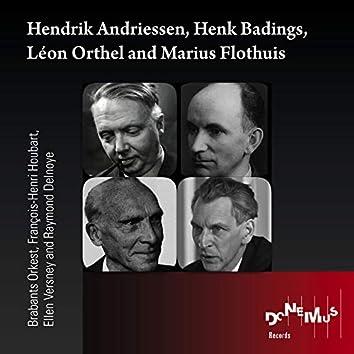 Hendrik Andriessen, Henk Badings, Léon Orthel and Marius Flothuis