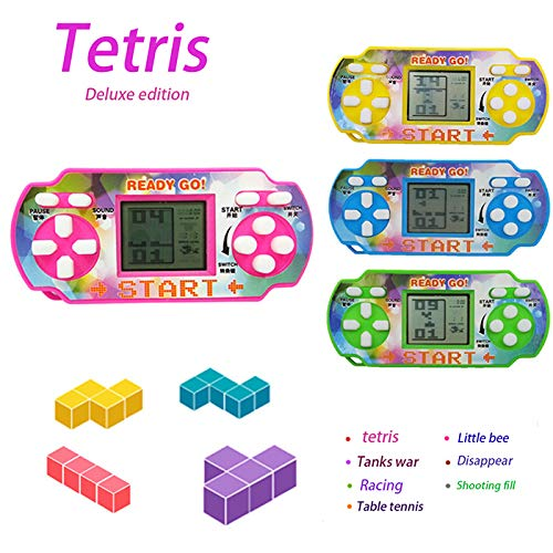HOTLISTA Mini Handheld Game For Tetris Racing Car Puzzle Game Kids Toy