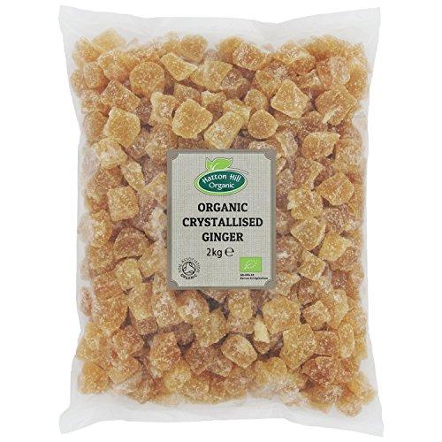 Bio kandierter und gezuckerte Ingwer Würfeln, Kristallisierter Ingwer 2kg von Hatton Hill Organic – BIO zertifiziert