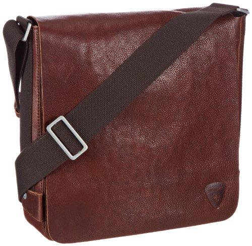 Strellson Morrison 01/22/02139 - Bolso de Mano de Cuero para Hombre, Color Beige, Talla 30x31x8 cm