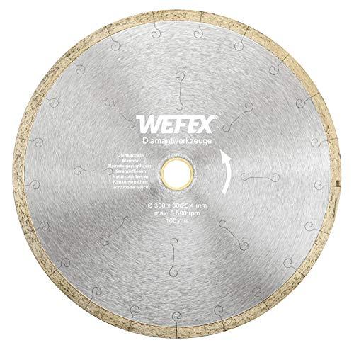 WEFEX Diamant-Trennscheibe Keramik-Premium 300 x 30/25,4 mm Kacheln Feinsteinzeug Keramik Fliesen