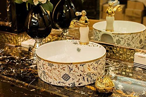 Keramik-Malerei-Kunst-Gewerbe Waschbecken Aufsatz- Waschbecken Bowl Schön