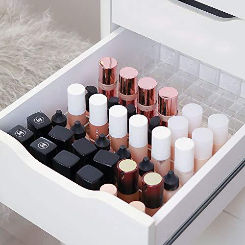 TidyUps DIVIDERS for Foundations| Trennstege-Set als Schubladeneinsatz für IKEA Alex | Kosmetik Organizer für Makeup aus Acryl (42cm) (42)