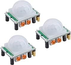 HiLetgo 3pcs HC-SR501 PIR Infrared Sensor Human Body Infrared Motion Module for Arduino Raspberry Pi