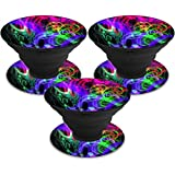MightySkins Skin Compatible with PopSocket PopSocket - Neon Splatter | Protective, Durable, and Unique Vinyl Decal wrap Cover | Easy to Apply, Remove, and Change Styles | Made in The USA