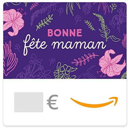 Chèque-cadeau Amazon.fr - E-mail - Bonne fête maman - Floral