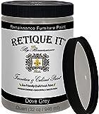 Retique It Chalk Furniture Paint by Renaissance DIY, 32 oz (Quart), 04 Dove Grey, 32 Ounces