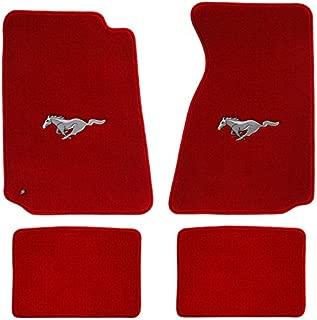 Lloyd Mats Red Mustang Pony Heavy Plush Floor Mats