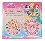 GlowKids Princess Snow White, Cinderella, Ariel, Belle, Rapunzel & Friends Press on Nails - Fake Nails for Kids | Rhinestone Nail Stickers | Kids Nail File Included | 65 Piece Kids Manicure Set