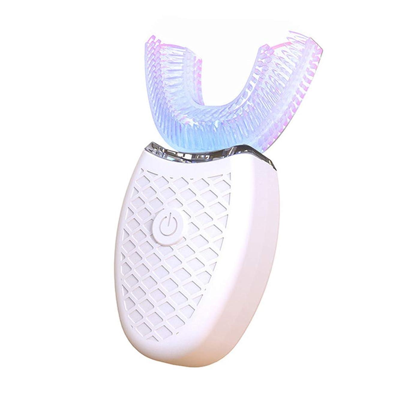 存在する十分ではないマラドロイト再充電可能な電動歯ブラシ、超音波充満モデルシリコーンの大人の電気怠惰な歯磨き粉,白