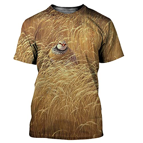 XIOUOUSD Camiseta con Estampado 3D de Partridge Bird para Hombres y Mujeres, Camiseta Informal, Ropa de Calle