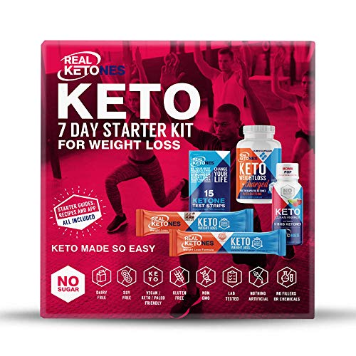 Real Ketones™ - 7 Day Keto Starter Bundle Kit - Exogenous Ketone BHB...