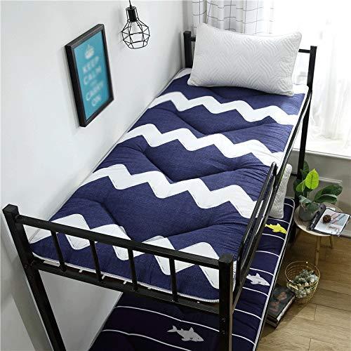 HejinXL Opvouwbare futon mat, ultra zachte vloermat op matras, topper, matras, slaapzaal, studenten, natuurvezel, katoen, matras 190x190cm D