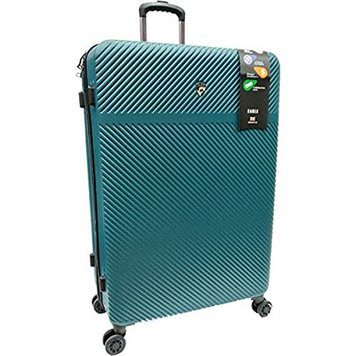 Eagle Super Lightweight Premium ABS Hard Shell Luggage Suitcase Travel Bag Trolley Case with 360 Wheels & Built- in TSA Lock (Teal, XL 32 Inch)