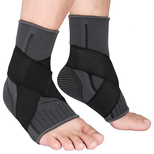 Knöchelbandage Sprunggelenk Einstellbares Sprunggelenkbandage Flexible Fußbandage Schont und Unterstützt Knöchel für Sport Fußball Fitness Laufen für Damen und Herren 2 Stuck