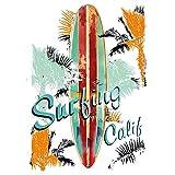 Color de transferencias, DIN A4, delicado sin hintergund, Vintage Surfing   Textiles como Camisetas & bolsillos con banda de motivos verzieren   imágenes rápido y fácil planchado   DIY textil Diseño