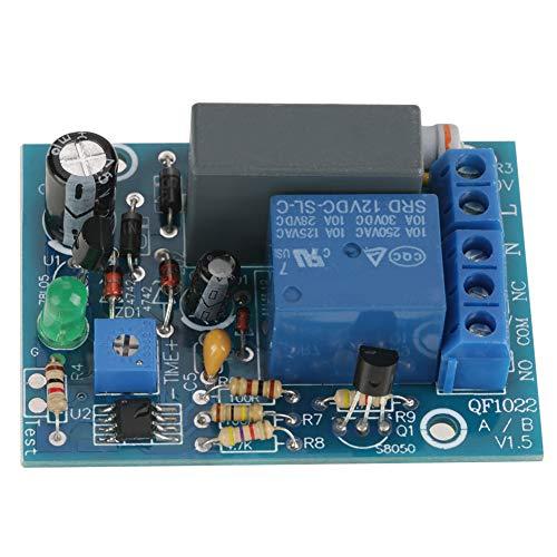 tiempo de espera de retardo de energ/ía Interruptor de temporizador iluminado de 6 A 12 segundos a 12 minutos 2 cables ajustables