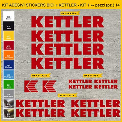 Sticker voor fietsen KETTLER Set 1 - Kit Sticker 14 stuks -Scegli SUBITO Colore- Bike Cycle Pegatina Artikelnummer: 1030