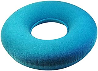 Zinnor Inflatable Ring Cushion with A Pump, Medical Hemorrhoid Seat Pillow, Round Rubber Seat Cushion, Coccyx & Tailbone Pain Great for Wheelchairs- Use in The Home, Car or Office (Blue)