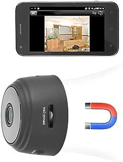 Mini Cámaras espía inalámbricas con Wi-Fi Mini cámara 1080P Imán adsorbido incorporado Cámaras de vigilancia de seguridad para el hogar con detector de movimiento IR Visión nocturna