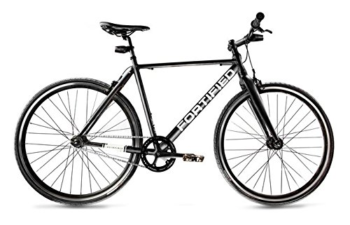 Fortified City Commuter Theft-Resistant Single Speed Bike (Large (58cm))
