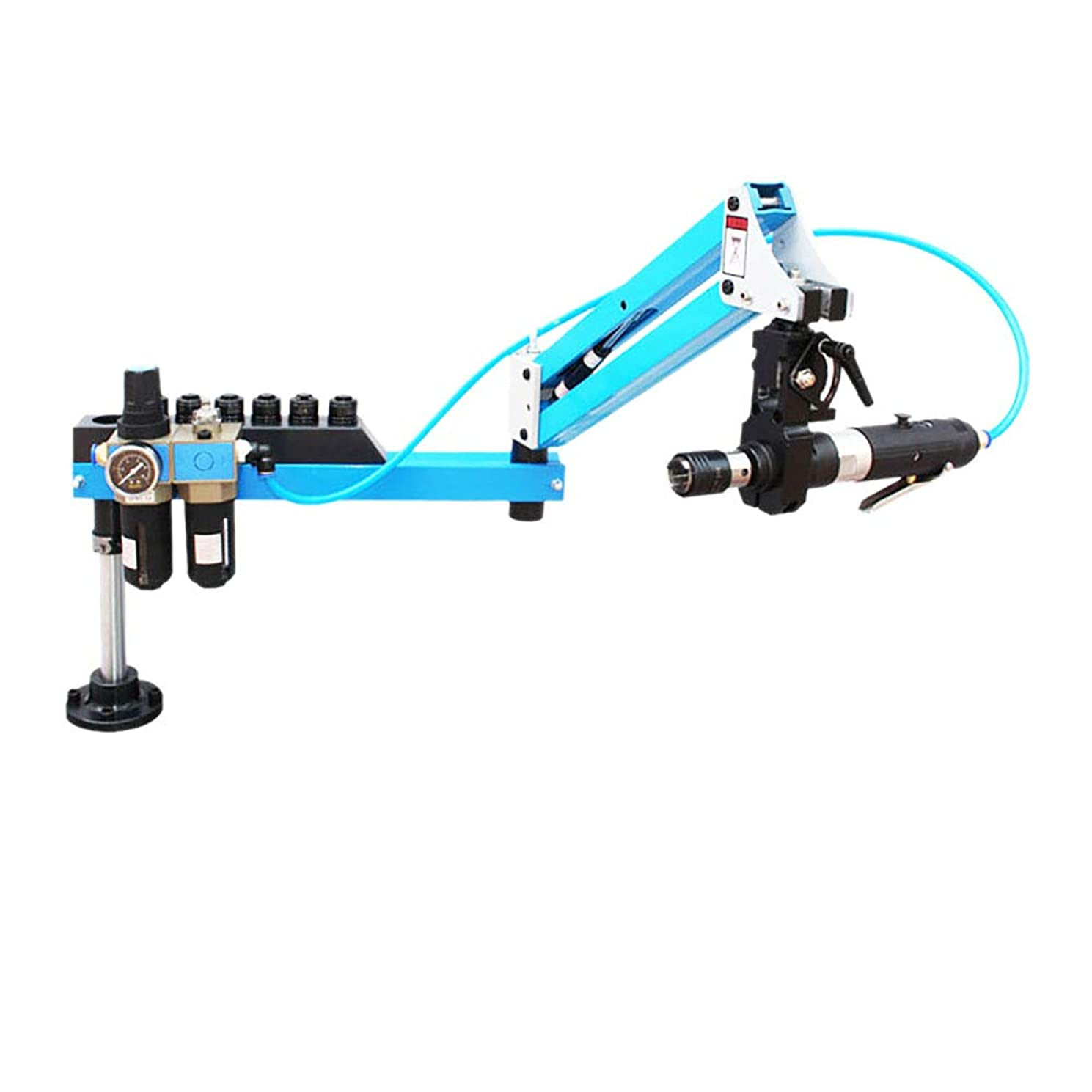 光の書士対象Pneumatic Air Tapping Machine Drilling Machine Universal Type 360 Degrees Angle M3-M12 Working Radius 39.37inch