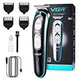 VGR Professional Men's Hair Clippers, Electric Rechargeable Cutting Kit Beard Trimmer Cordless Low Noise Shaver Kids Adult Daily Travel Use with Guide Combs Brush USB Cord